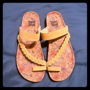 New womens memory foam boho sandal